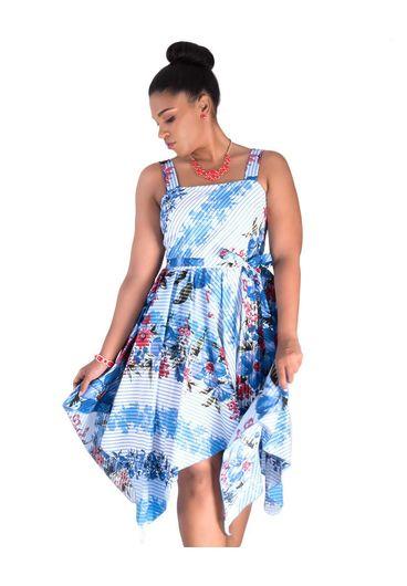 KAELA- Strappy Handkerchief  Dress