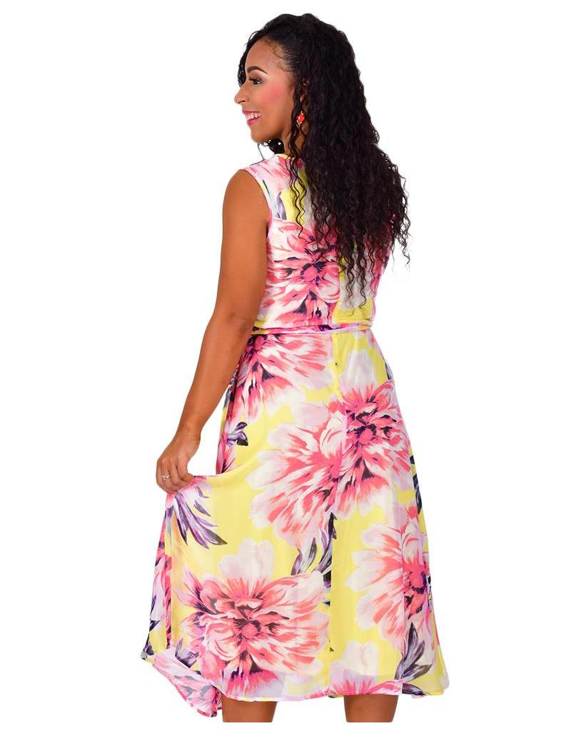 Shelby & Palmer FAYOLA-Printed Fit and Flare Dress
