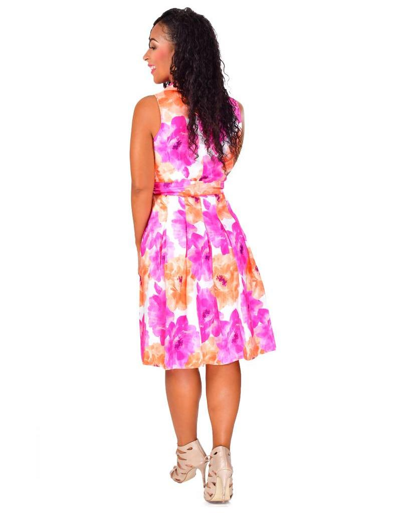 Shelby & Palmer HAILEY-Printed Dress with Collar