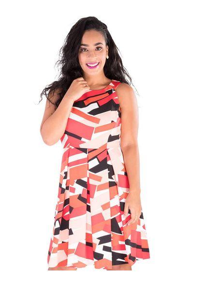Nine West Rajani-Printed Fit and Flare Dress