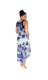 Signature FABIOLA-Printed Overlay Midi Dress