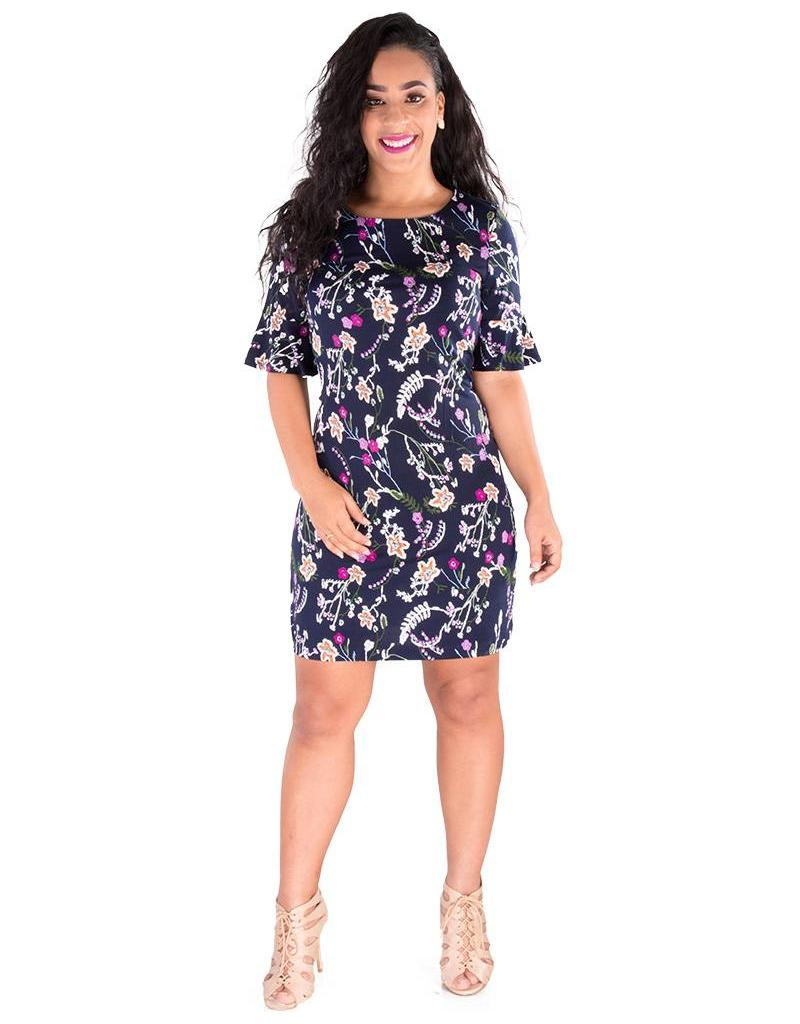 ILSA- Floral Half Sleeve Dress