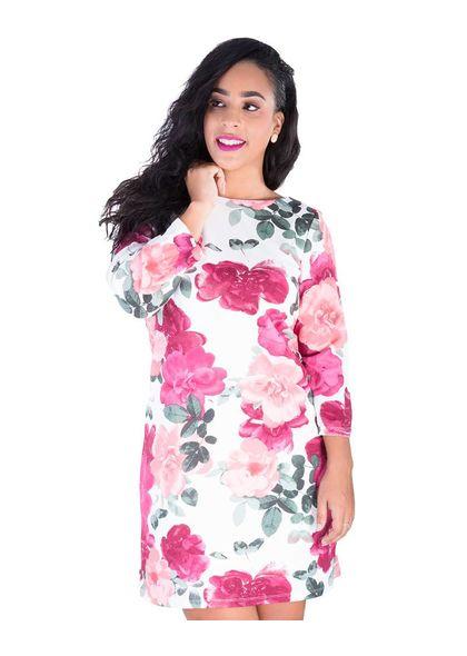 UNIQUE- Printed Three Quarter Sleeve Dress