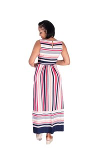 Sandra Darren YOSHI-Striped Printed Maxi Dress