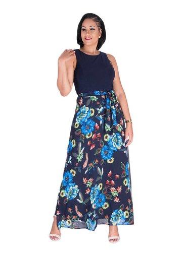 FIENE-Floral Maxi Dress