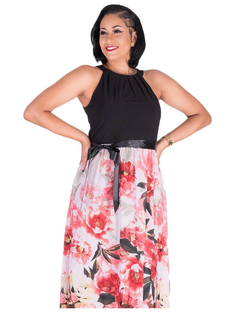 FEY-Floral Maxi Dress