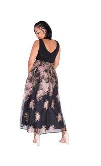 MIDGE-Embroidered Sleeveless Gown