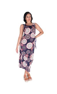 Signature IMMIE-Printed Faux Wrap Dress