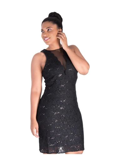 LAURA-Lace Sequined Dress