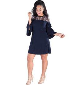 IGNACIA- Illusion Top Three Quarter Sleeve Dress