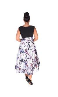SADE-Floral High Low Dress
