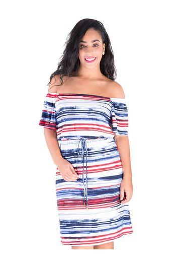 Nine West ISHA-Cold Shoulder Print Dress