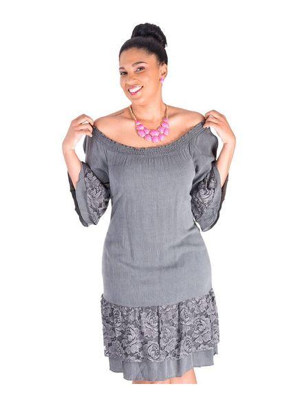 Signature KAI-Lace Accent 3/4 Sleeve Dress