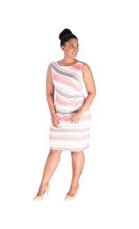 IDRA-Printed Faux Wrap Dress