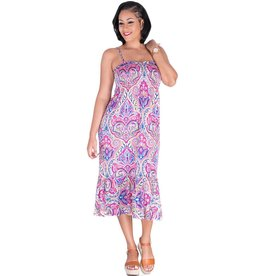 JOSIE-Printed Spaghetti  Strap Dress