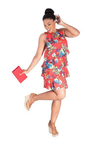 FANCY-Printed Layered Dress