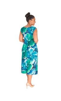 IDRIS - Printed Cowl Dress