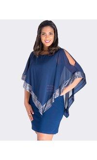 FORTUNA- Handkerchief Pop Over Shift Dress