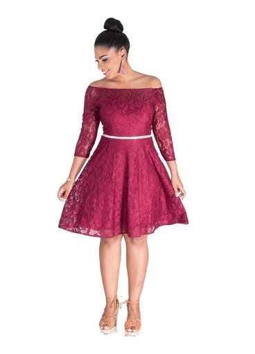 Celavie LAYLANI- Off Shoulder 3/4 Sleeve Dress