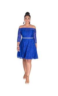 Celavie LAYLANI- Off Shoulder 3/4 Sleeve Dress