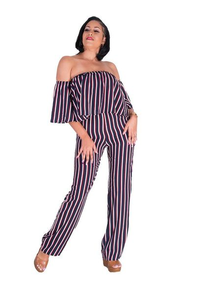 L & C WYNN- Off Shoulder Jumpsuit