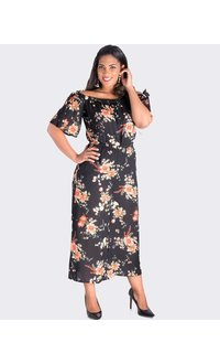 KARA-Printed Jumpsuit with Cold Shoulder Cut Outs