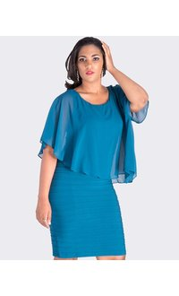 Scarlett INESSA-   Chiffon Cape Dress