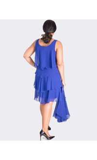 FINELLA- Layered Ruffle Dress with Sheer Jacket