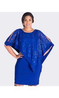 Scarlett INDAH- Lace Cape Dress