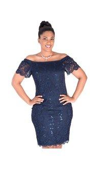 LIESL-Lace Cap Sleeve Dress