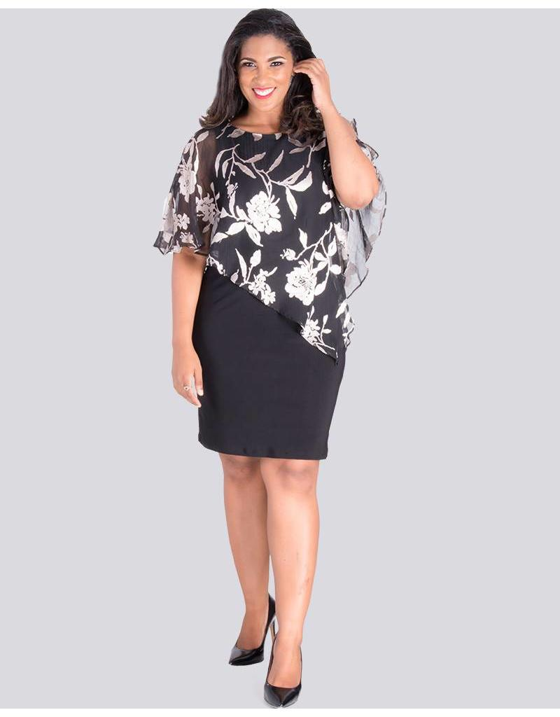 Scarlett IONA - Printed Cape Dress