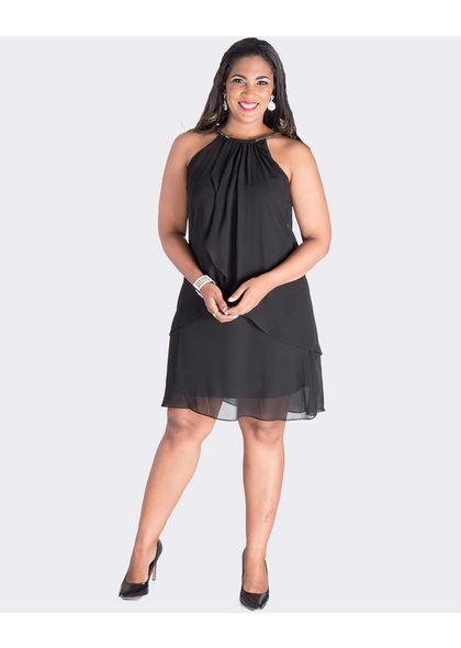 FLORA- Halter Tiered Shift Dress