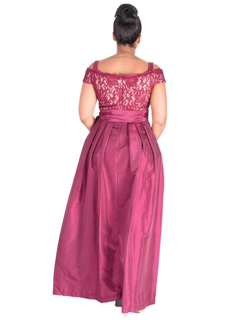 TRUDY-  Cold Shoulder Gown