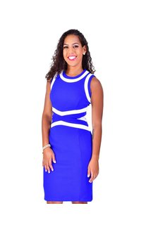 Shelby & Palmer BELINDA-Sleeveless Color Block Dress