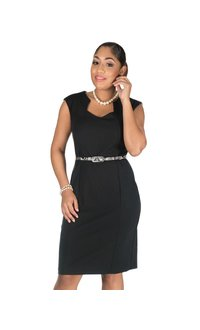 Broad Strap Dress with Snake Skin Belt