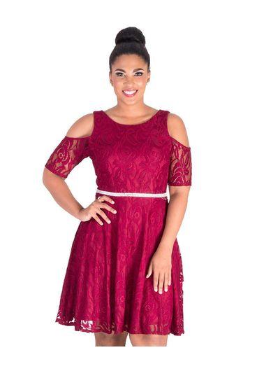 Celavie LAYLANN-Cold Shoulder Dress with Bejewelled Waist