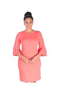 Nine West ROSA-Three Quarter Sleeve Dress