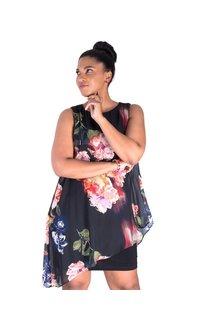Fausta-Printed Shift Dress