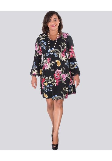 Signature REZ- Printed Three Quarters Sleeve Dress