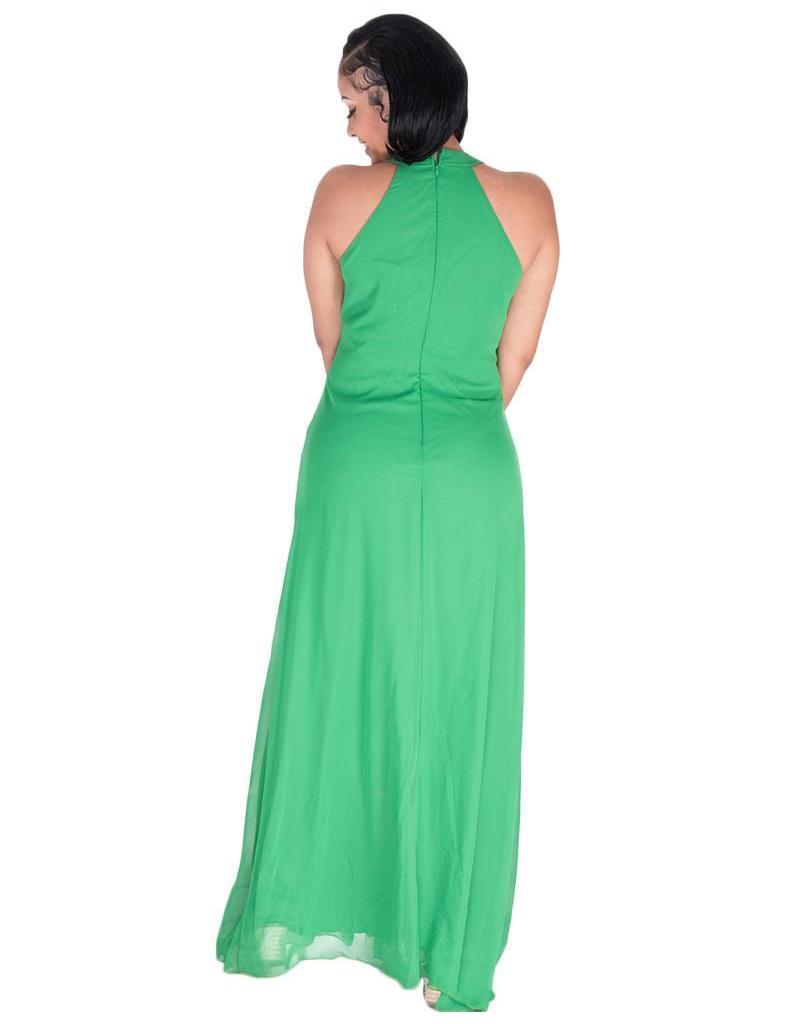 FLORINE-Full Length Halter Gown