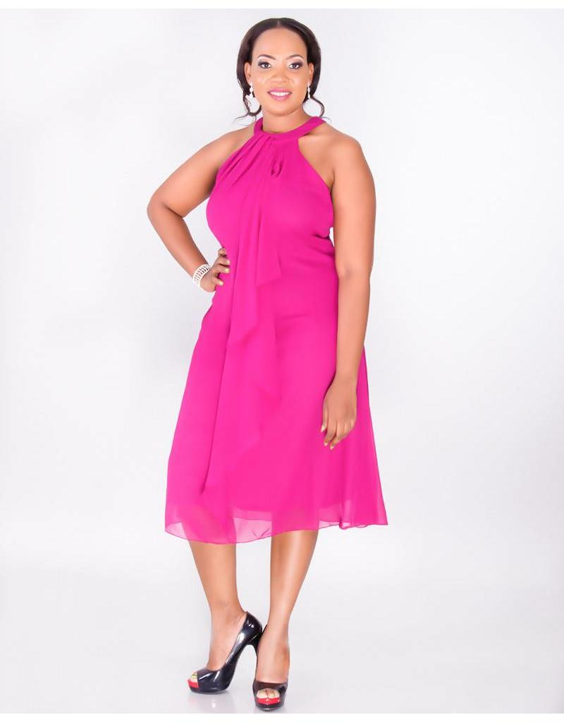 FLORIDA-Plus Size Halter Dress