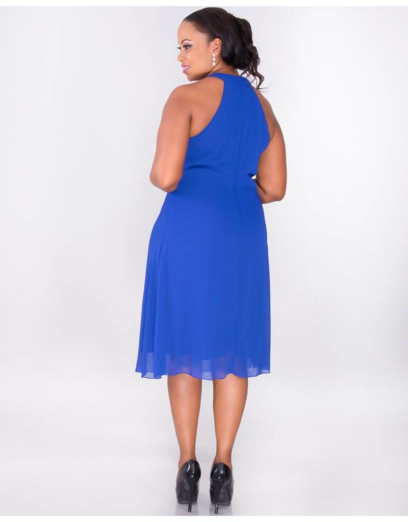 FLORIDA-Plus Size Halter Dress