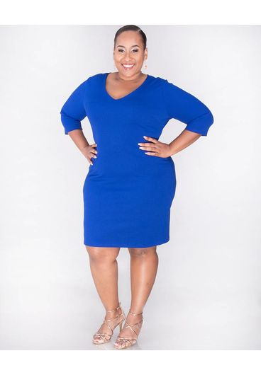 Crece ROBINA -Plus Size 3/4 Sleeve Sheath Dress