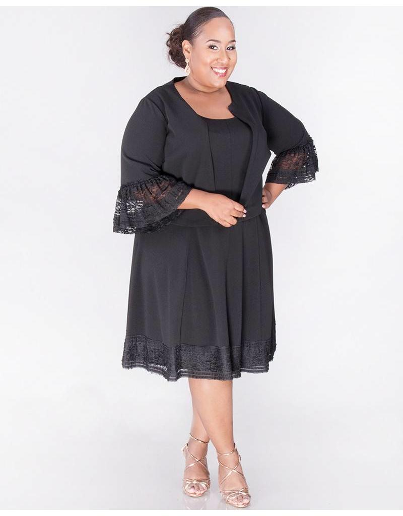 Signature RIELLA-Plus Size 3/4 Sleeve Jacket and Dress