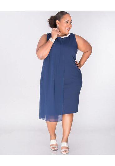 RAPUNZEL - Plus Size Rhinestone-trim Popover Dress