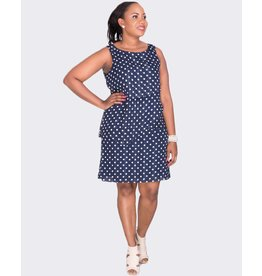Jessica Howard FLORENCE- Plus Size Polka Dot Layered Dress