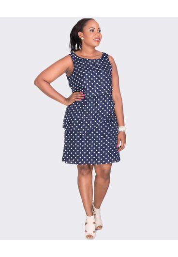 Jessica Howard FLORENCE- Plus Size Polka Dot Layered Dress