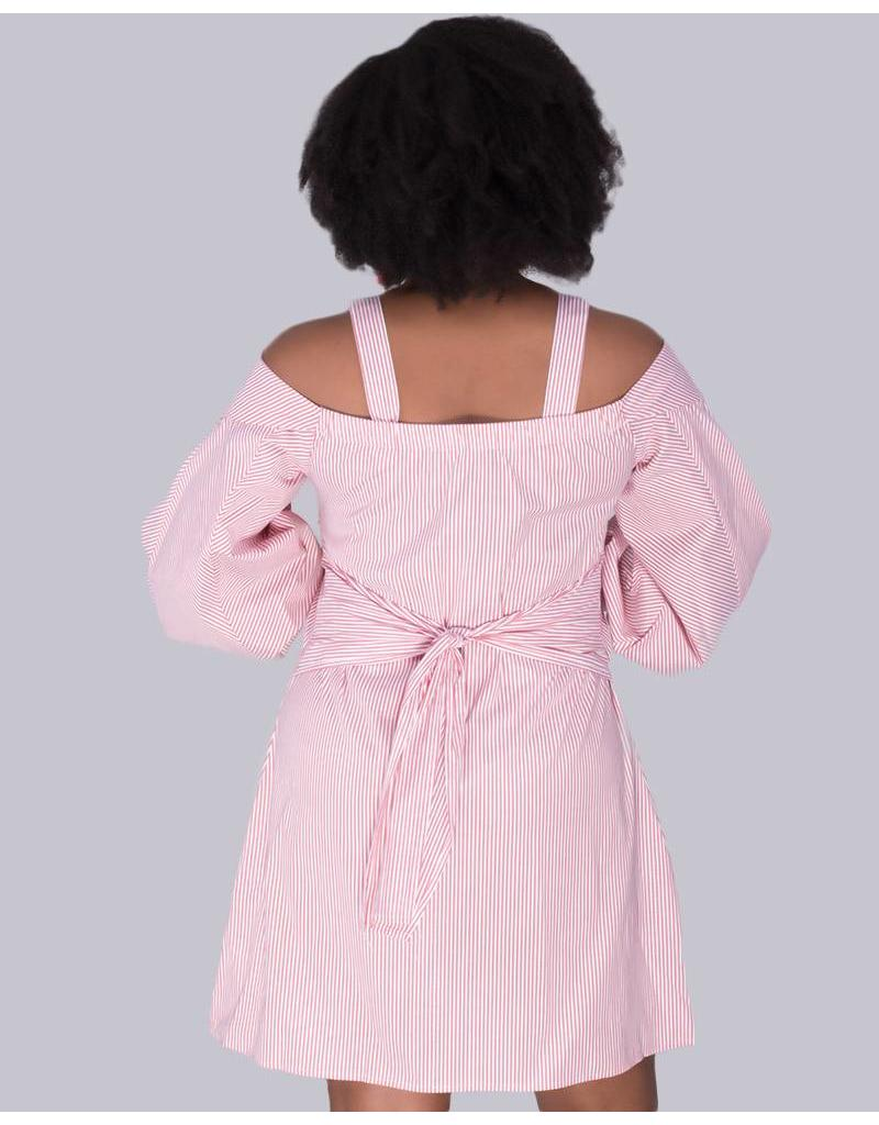 Laundry by Shelli Segal KAELYN- Striped cotton shift dress