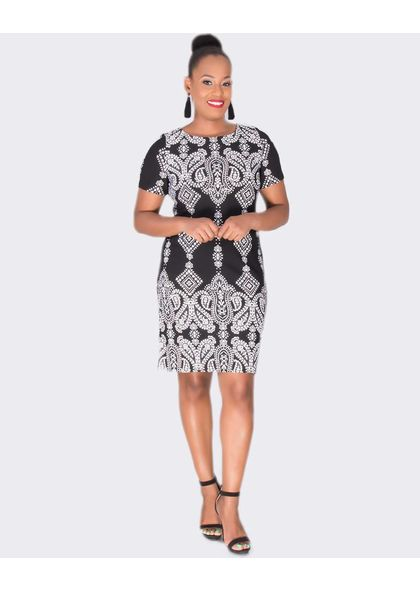 Sandra Darren BRYONY- Printed Short Sleeve Dress