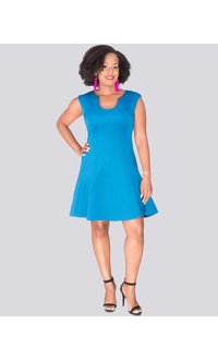 Laundry by Shelli Segal URANIA- Seamed fit and flare dress